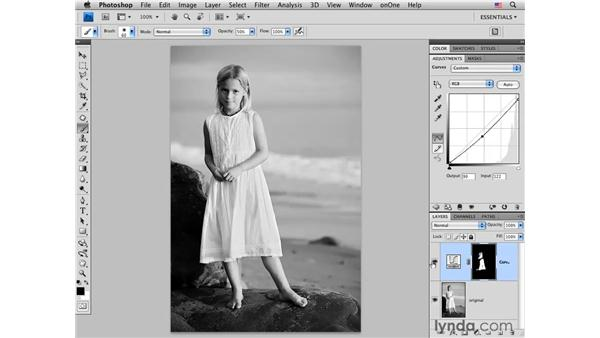 Correcting tone with curves: Photoshop CS4 Portrait Retouching Essential Training