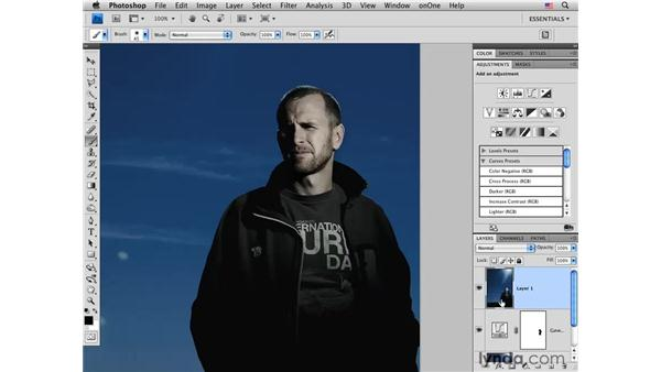 Enhancing with curves and the Burn tool: Photoshop CS4 Portrait Retouching Essential Training