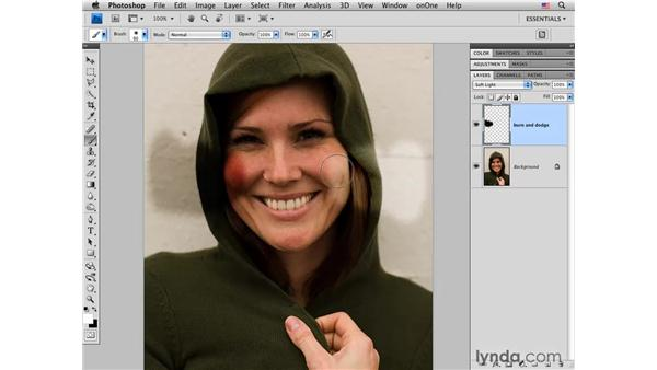 Quickly correcting tone with curves: Photoshop CS4 Portrait Retouching Essential Training
