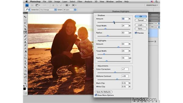 Enhancing tone with shadows and highlights: Photoshop CS4 Portrait Retouching Essential Training