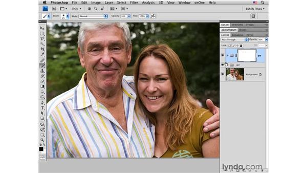Organizing layers and masking: Photoshop CS4 Portrait Retouching Essential Training