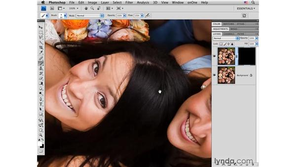 Adding sparkle to the eyes: Photoshop CS4 Portrait Retouching Essential Training