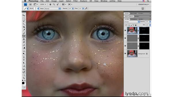 Brightening eyes: Photoshop CS4 Portrait Retouching Essential Training
