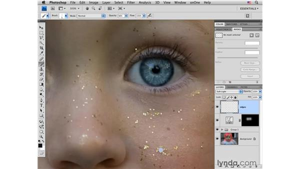 Improving eyes and darkening edges: Photoshop CS4 Portrait Retouching Essential Training