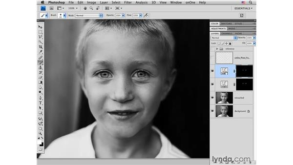 Improving eyes with curves and color: Photoshop CS4 Portrait Retouching Essential Training