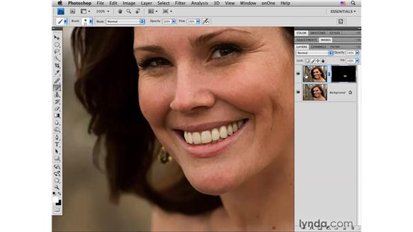 Adding dimension, shine, tone, and color: Photoshop CS4 Portrait Retouching Essential Training