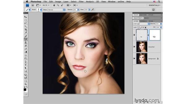 Improving shape and tone: Photoshop CS4 Portrait Retouching Essential Training