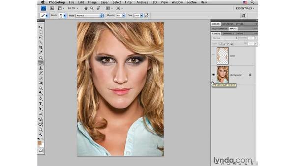 Brightening dark roots: Photoshop CS4 Portrait Retouching Essential Training