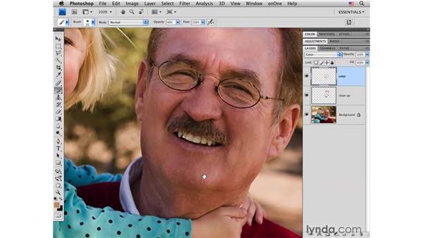 Minimizing color variance: Photoshop CS4 Portrait Retouching Essential Training