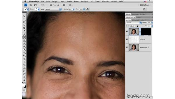 Reducing small details: Photoshop CS4 Portrait Retouching Essential Training