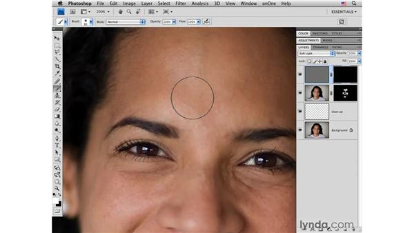 Advanced skin enhancement: Photoshop CS4 Portrait Retouching Essential Training
