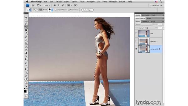 Fashion project pt. 1: Background cleanup: Photoshop CS4 Portrait Retouching Essential Training