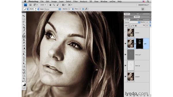 Skin softening: Photoshop CS4 Portrait Retouching Essential Training