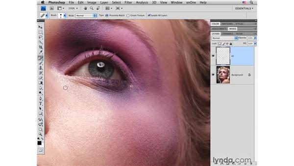 Basic skin cleanup: Photoshop CS4 Portrait Retouching Essential Training
