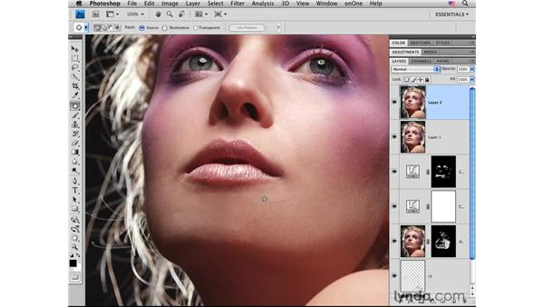 Basic retouching final steps: Photoshop CS4 Portrait Retouching Essential Training