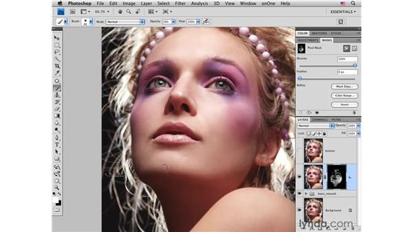 Final skin softening: Photoshop CS4 Portrait Retouching Essential Training