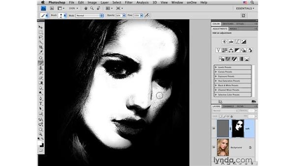 High-Pass skin softening: Photoshop CS4 Portrait Retouching Essential Training