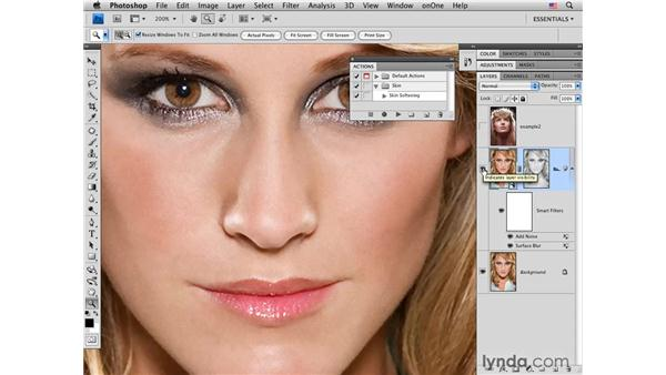 Creating a skin-softening action: Photoshop CS4 Portrait Retouching Essential Training