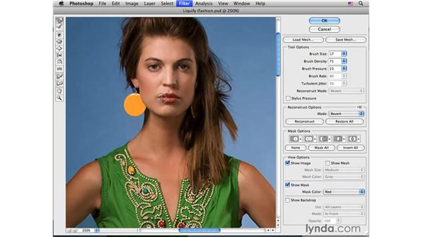 Fashion project pt. 1: Improving the facial expression: Photoshop CS4 Portrait Retouching Essential Training
