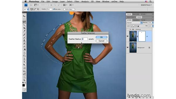 Fashion project pt. 2: Changing the arms: Photoshop CS4 Portrait Retouching Essential Training