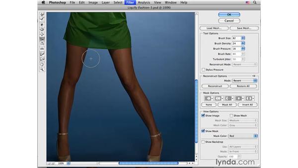 Fashion project pt. 3: Modifying the legs: Photoshop CS4 Portrait Retouching Essential Training