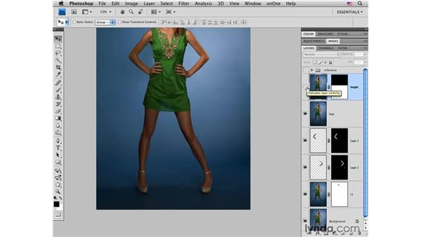 Fashion project pt. 4: Increasing the height: Photoshop CS4 Portrait Retouching Essential Training