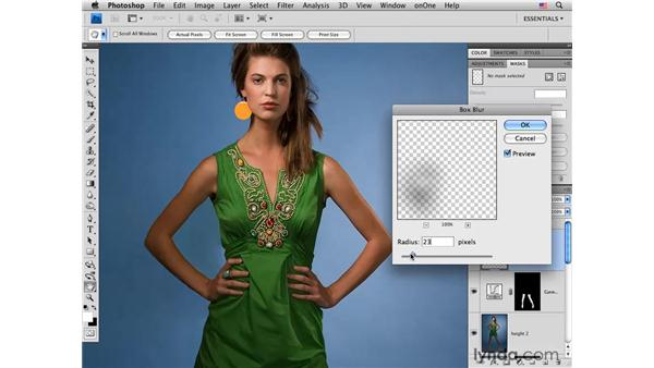 Fashion project pt. 5: Working with light: Photoshop CS4 Portrait Retouching Essential Training