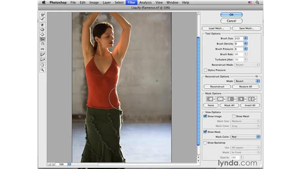 Flamenco project pt. 2: Improving the waist: Photoshop CS4 Portrait Retouching Essential Training