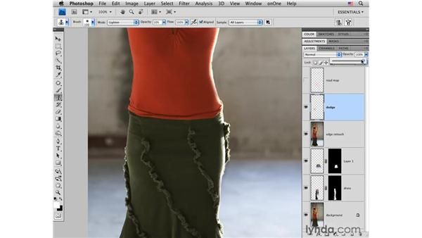 Flamenco project pt. 3: Adding height: Photoshop CS4 Portrait Retouching Essential Training
