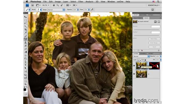Combining multiple exposures: Photoshop CS4 Portrait Retouching Essential Training