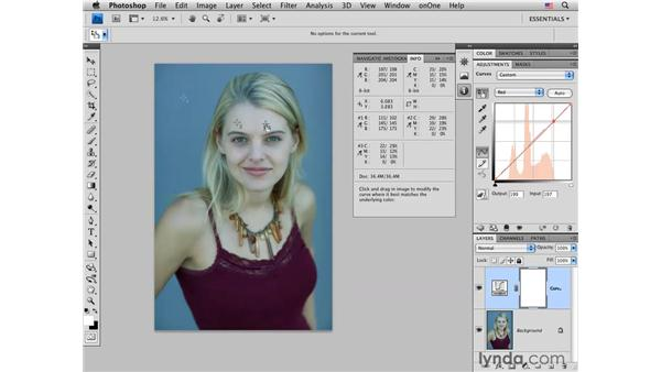 Color-correcting skin tones: Photoshop CS4 Portrait Retouching Essential Training