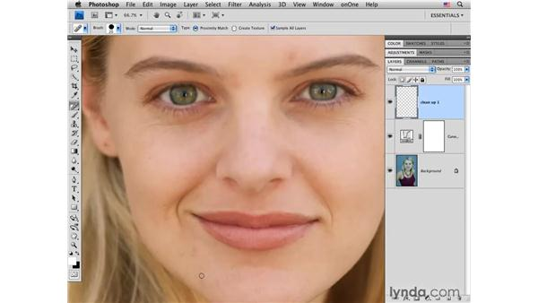Reducing blemishes: Photoshop CS4 Portrait Retouching Essential Training