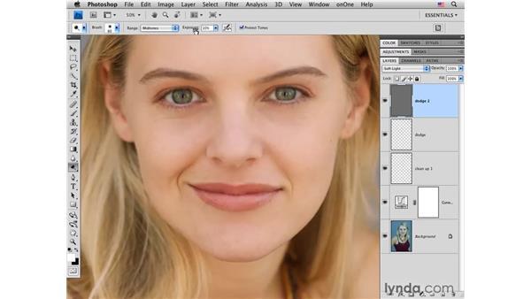 Enhancing tone: Photoshop CS4 Portrait Retouching Essential Training