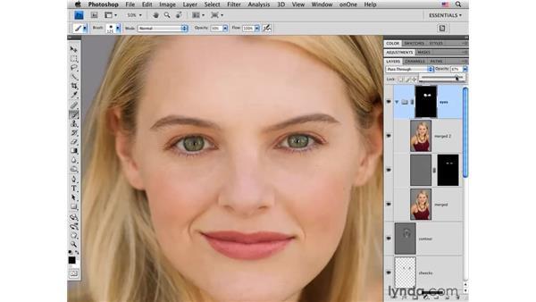 Improving eyes: Photoshop CS4 Portrait Retouching Essential Training