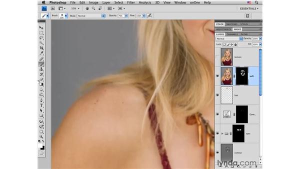 Smoothing skin: Photoshop CS4 Portrait Retouching Essential Training