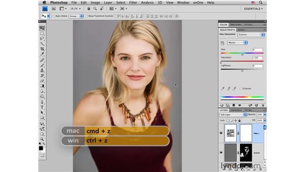 Enhancing color: Photoshop CS4 Portrait Retouching Essential Training