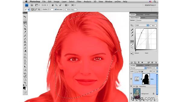 Modifying the background: Photoshop CS4 Portrait Retouching Essential Training