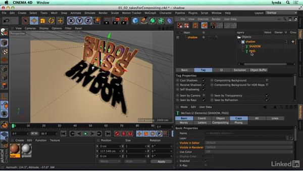 Using the Take System for compositing: CINEMA 4D R17 Essential Training