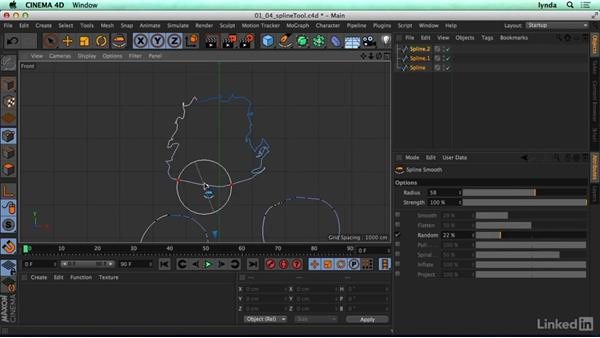 Spline tool: CINEMA 4D R17 Essential Training