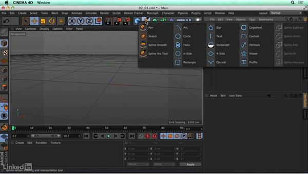 Navigating the CINEMA 4D (C4D) interface: CINEMA 4D R17 Essential Training