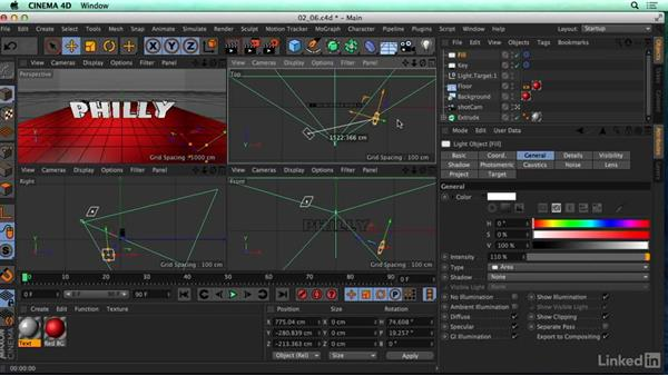 Lighting the model: CINEMA 4D R17 Essential Training