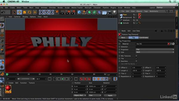 Setting up a material: CINEMA 4D R17 Essential Training