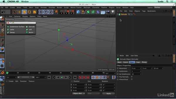 Introducing spline modeling: CINEMA 4D R17 Essential Training
