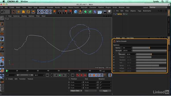 Creating splines in C4D: CINEMA 4D R17 Essential Training