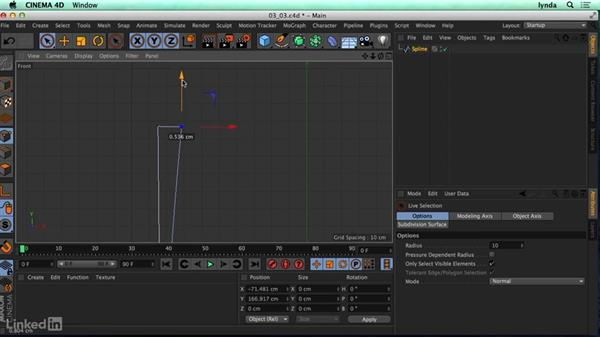 Using the Lathe tool: CINEMA 4D R17 Essential Training