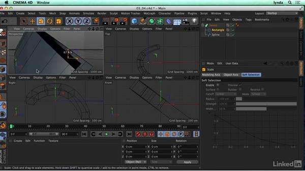 Using the Sweep NURBS objects: CINEMA 4D R17 Essential Training