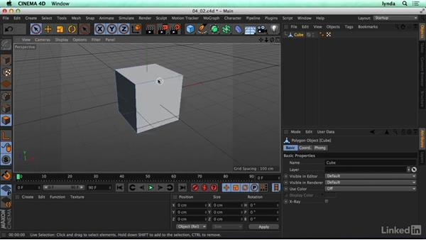 Points, edges, and polygons: CINEMA 4D R17 Essential Training