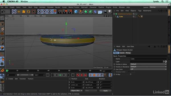Subdivision modeling: CINEMA 4D R17 Essential Training
