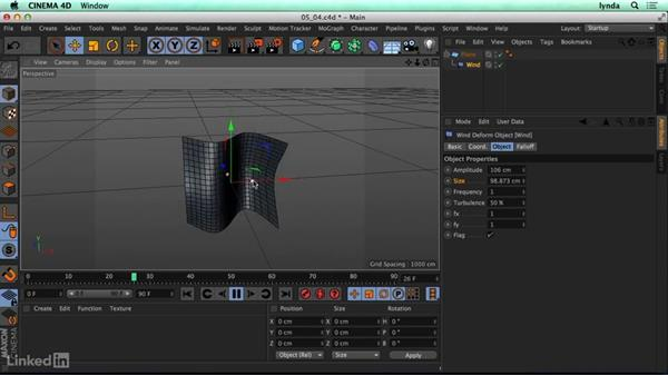 Wind deformer: CINEMA 4D R17 Essential Training
