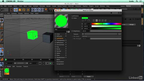 How does C4D think about materials: CINEMA 4D R17 Essential Training